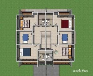 แปลนบ้านแฝด ชั้นบน