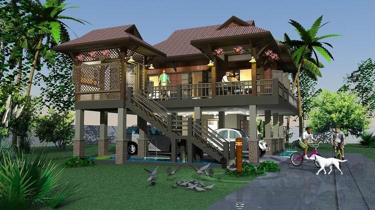 บ้านไม้ที่สุพรรณ สองชั้น 2 ห้องนอน
