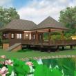 บ้านไม้ในสวน 1 ห้องนอน 1 ห้องน้ำ Msl-1403