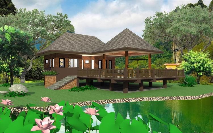 บ้านไม้ในสวน 1 ห้องนอน 1 ห้องน้ำ