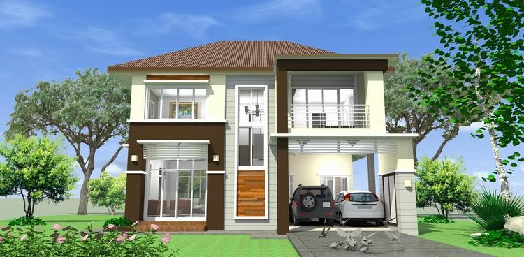 บ้านสองชั้น 3 ห้องนอน