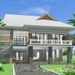 บ้านไทยประยุกต์ 5 ห้องนอนHm205-Prsn