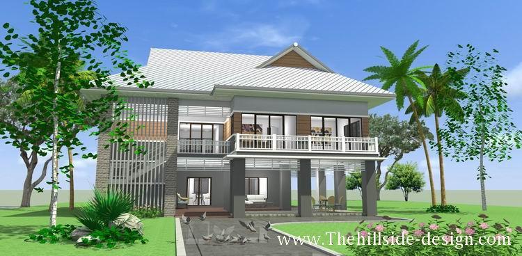 บ้านไทยสองชั้น 5 ห้องนอน