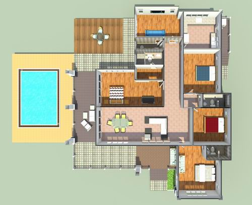 บ้านสี่ห้องนอน