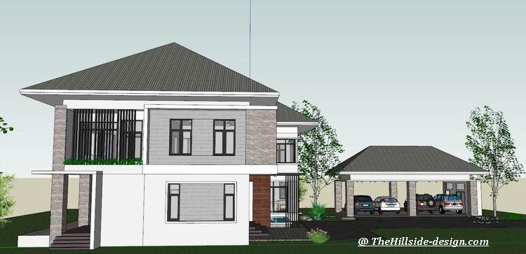 บ้านสองชั้น 4 ห้องนอน