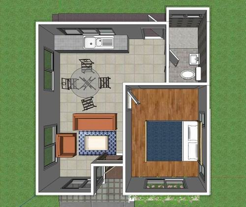 บ้าน1 ห้องนอน