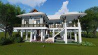 บ้านไทยประยุกต์ 4 ห้องนอน Suphan-KK