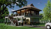 บ้านไทยประยุกต์ 2 ห้องนอน Msl-Tew