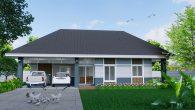 บ้านชั้นเดียว 3 ห้องนอน ( หน้ากว้าง)Dkk
