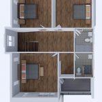 บ้านสองชั้นสามห้องนอน